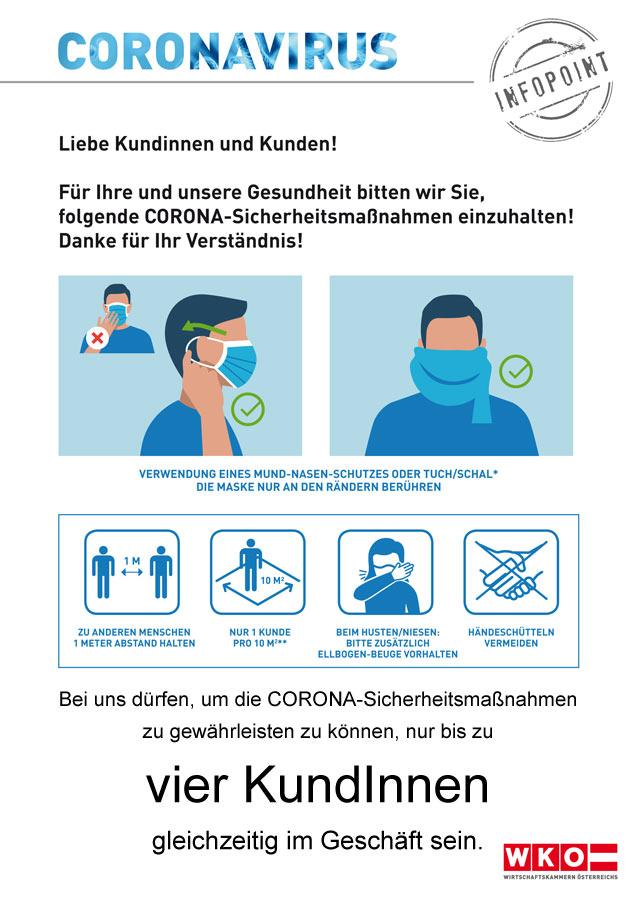 Corona Sicherheitsmaßnahmen